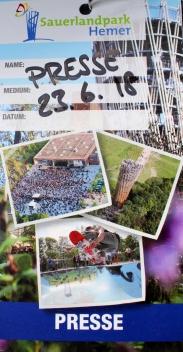 Sauerlandpark Hemer Presseausweis