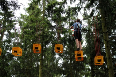 Erlebnisberg Kappe Kletterwald Getränkekisten