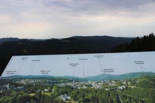 Panorama Erlebnis Brücke Übersichtstafel