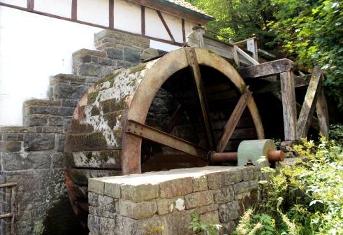Heesfelder Mühle Mühlenrad