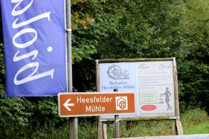 Heesfelder Mühle Schild