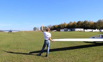 Flugplatz Heggen Segelflugzeug Start