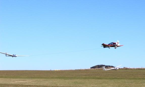 LSC Attendorn Finnentrop Segelflugzeug in der Luft