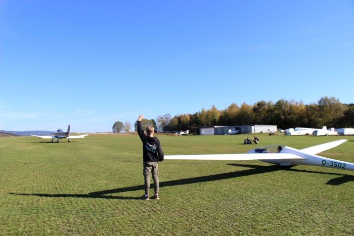 LSC Attendorn Finnentrop Segelflugzeug Start