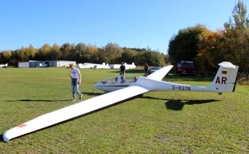 LSC Attendorn Finnentrop Segelflugzeug vor Start