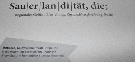 Sauerlandität Einladung