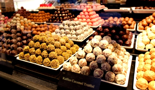 Schokoladenmanufaktur Sauerland Pralinen Auslage