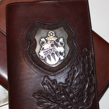 Hofsattlerei Cosack Wappen Notizbuch