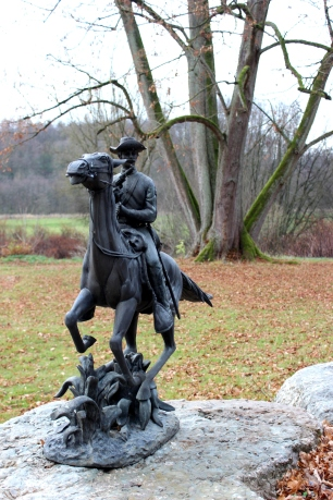 Rittergut Statue Reiter