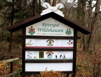 Rittergut Wildshausen Schild