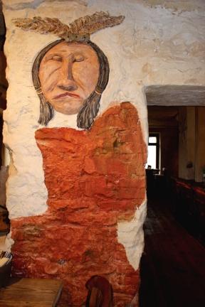 Cafe Geronimo Wandbemalung Indianer