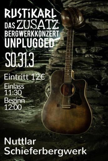 Rustikarl Konzertplakat
