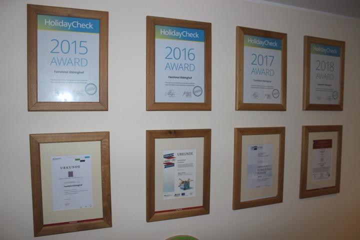 Ebbinghof Auszeichnungen