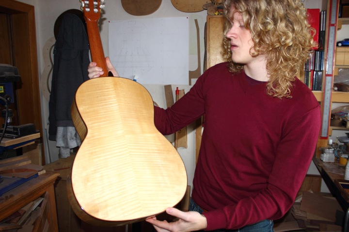 Steven den Toom Gitarre Ahornholz