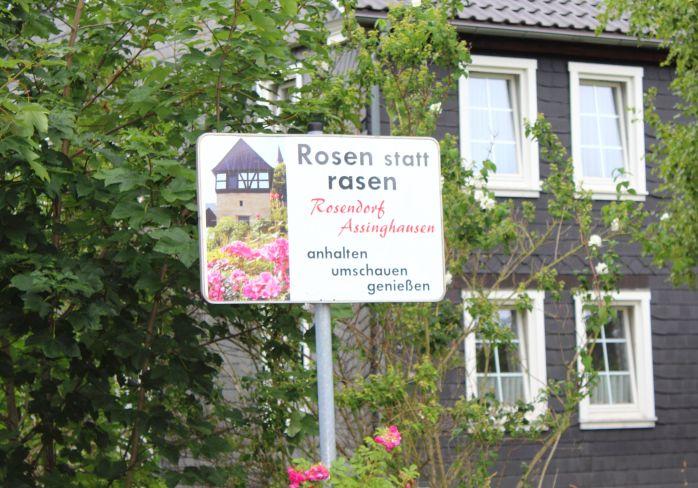 Rosendorf Assinghausen Schild