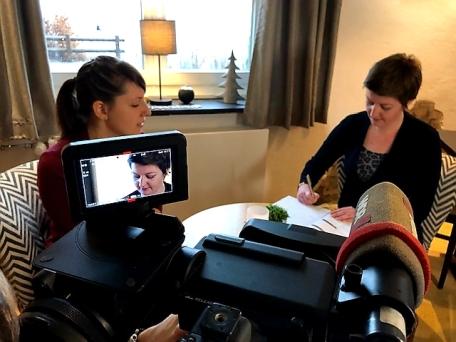 WDR Dreh Hohe Bracht Melanie Schreiner Interview